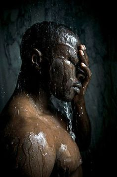 Photographer Manjari Sharma just wrapped up one of the more interesting photogra… - Photography Subjects Photos Portrait Homme, Photo Portrait, Portraits, Men In Shower, Man Shower, Andrew Christian, Big Sean, Water Photography, Boudoir Photography