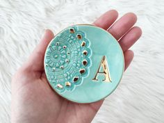 Monogram Ring Dish - Custom Ring Dish - Personalized Ring Dish - Wedding Ring Dish - Wedding Gift - Bridesmaid Gifts Ring Dish