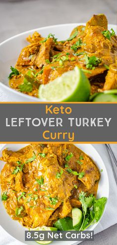 Give your leftover turkey a makeover and free up space in the fridge with this leftover turkey curry! A simple curry that uses cooked turkey and common spices and aromatics. An easy low carb dinner recipe that can be on the table in no time! Just 8.5g net carbs per serving makes this recipe ideal for low carb, atkins, and keto diets! Low Carb Dinner Recipes, Keto Dinner, Keto Recipes, Leftover Turkey Curry, Common Spices, Cooking Turkey, Atkins, Diets, Space