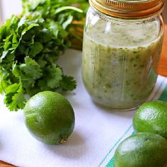 Lime and cilantro in a great vinaigrette dressing.