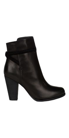JOIE Rigby Booties Black | High Heel Leather Ankle Boots