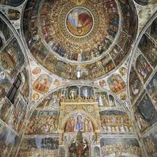 Padua Baptistry frescoed by Giusto de' Menabuoi, Large HD. Photo from turismopadova. Celestial, Fresco, Places To See, Renaissance, City Photo, History, Travel, Bucket, Crafty