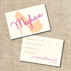 Personalized Will You Be My Bridesmaid Cards Shoes Mad Lib Printable Custom Unique Creative on Etsy, $15.00
