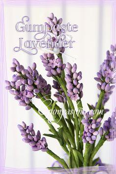 {A Bouquet of Gumpaste Lavender Flowers}