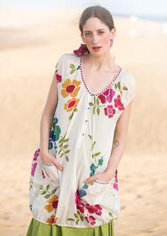 "Tunika ""Florencia"" i bomuld/silke–Nyt siden sidst–GUDRUN SJÖDÉN – Kläder Online & Postorder"