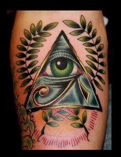 #ra #eye of ra #horus #thirdeye #allseeing #olive #tattoo by Jamie Winn http://www.SpaceTigerTattoos.com
