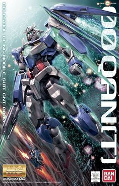 This is the Scale MG 00 Quanta Plastic Model Kit by Bandai the TV series Gundam Seed. Gundam Exia, Gundam Astray, Gundam 00, Gundam Wing, Plastic Model Kits, Plastic Models, Gundam Wallpapers, Anime Store, Gundam Seed