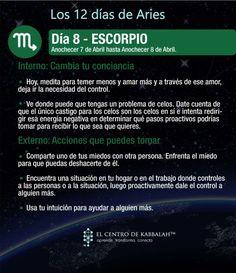 Los 12 días de #Aries :: Día 8 #ESCORPIO :: #Kabbalah