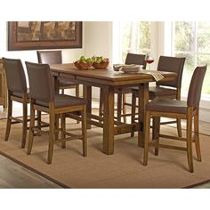 Wildon Home ® 7 Piece Counter Height Dining Set  B Mesmerizing Counter Height Dining Room Design Decoration