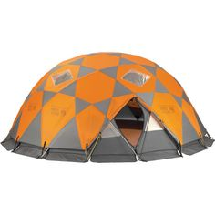 This tent is like a stronghold! Can fit 10 people, and it is 4 seasons!  Huge and strong! And cool looking! #Camping #Outdoors #Tent