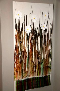 a nice take on the melted crayon art