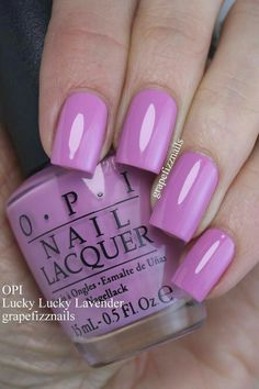 OPI Lucky Lucky Lavender (grape fizz nails) OPI Lucky Lucky Lavender (grape fizz nails),Nails OPI Lucky Lucky Lavender Related Phenomenal Ombre Nail Art Designs Ideas for This Year - Page 40 of Opi Nails, Manicure And Pedicure, Nail Nail, Nail Polishes, Fabulous Nails, Gorgeous Nails, Cute Nails, Pretty Nails, Opi Nail Colors