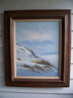 Vintage signed OIL Painting  SEASCAPE - BEACH custom framed by LIZ404 on Etsy