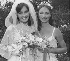 Sharon's sisters, Patti and Debra at Patti's wedding. Sharon Tate, Beautiful Mind, The Most Beautiful Girl, Charles Manson, Roman Polanski, Vintage Bridal, Timeless Beauty, Hollywood Stars, Covergirl