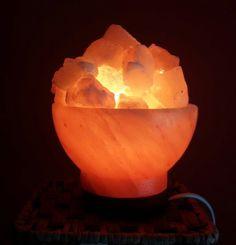 LÁMPARA CUENCO DE SAL - Mundo Mágico 7 Himalayan Salt Lamp, Table Lamp, My Favorite Things, Home Decor, World, Vitamin E, Table Lamps, Decoration Home, Room Decor