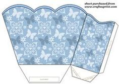 Blue Butterfly Gift Basket 2