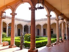 Second interior courtyard of the Museo de Aguascalientes.