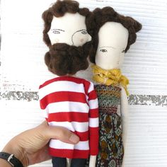New dolls! A bearded doll and a Lady!