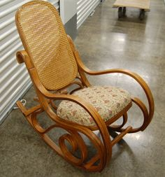 This Bentwood Rocking Chair is in its original condition except for an updated upholstered seat. Super comfortable for rocking away the time. Country Chic, Home Projects, Rocking Chairs, Living Room, The Originals, Bedroom, Sisters, Etsy, Boutique