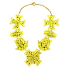 HEAVEN 'Special Formation' Embellished Necklace ($1,265) ❤ liked on Polyvore