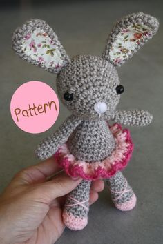 Ballerina bunny, crochet, amigurumi, pattern.