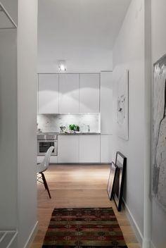 Apartamento de planta alargada luminoso en... ¡39 metros! | Decorar tu casa es facilisimo.com