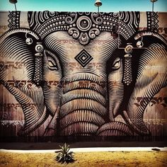 Cryptik, Los Angeles. More street art form around the world on cartwheelart.com