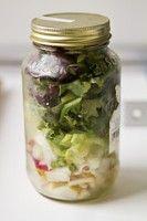 Salade in een Mason jar