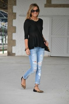 I <3 the flats with the studded ankle straps!