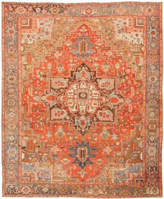 Antique Heriz Persian Rugs #43346  http://nazmiyalantiquerugs.com/antique-rugs/heriz-rugs/