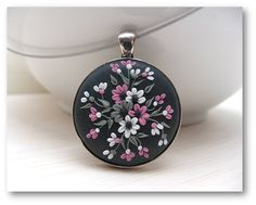 Valentines Day Gift Floral Jewelry Floral Pendant by Floraljewel, $40.00