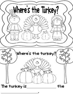 Where is the Turkey? Booklet focuses on nouns and prepositions for the little ones.