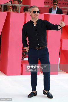Sometimes I really get surprised by Martin being this smoking hot. I mean, let's consider his shirt, and his glasses, and his bloody shoes! That's the best part of his outfit, actually. Love it.