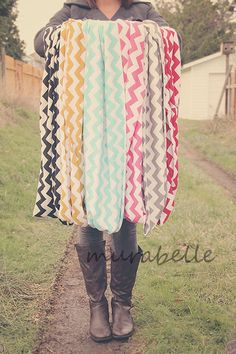 CHEVRON+Infinity+Loop+Scarf+your+choice+of+color+by+Murabelle,+$26.50