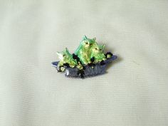 vintage-copied French Hand Enameled Kittens Brooch by EuroSplendor