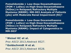 Pomalidomide + Low-Dose Dexamethasone (POM + LoDex) vs High-Dose Dexamethasone (HiDex) in Relapsed/Refractory Multiple Myeloma (RRMM): MM-003 Analysis.