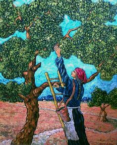 Olive picker Painting  - Morrison