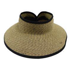 Heathered Rollup Sun Visor Hat by Boardwalk c84de9a77ffc