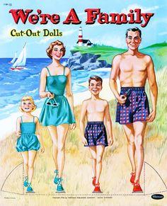 We're a Family 1954 paper dolls / missmissypaperdolls