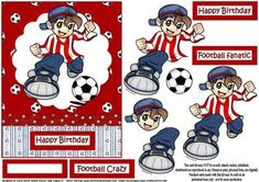 Football crazy red on Craftsuprint - Add To Basket!