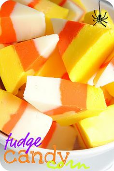 Easy Fudge Recipe that looks like candy corn! So simple!