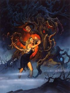 """Here's some paintings from Joe Jusko based on the """"Nightmare on Elm Street"""" classic horror movie. And for my partner i have some Wojtek art to come! Horror Icons, Horror Art, Horror Movies, Robert Englund, Freddy Krueger, Freddy's Nightmares, Dream Warriors, Horror House, Classic Monsters"""