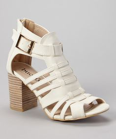 16d80975f1b2 Look at this White Alzina Sandal on  zulily today! Dream Shoes