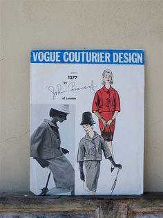 1960s Vogue UNCUT 2 pc. Couturier Jacket and Skirt, John Cavanagh Designs