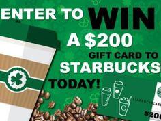 Win a $200 Starbucks Gift Card