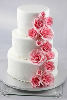 Mini Wedding Cakes, Cake & Co, Rose Cake, Cake Toppings, Beautiful Roses, Mad, Sweets, Foods, Weddings