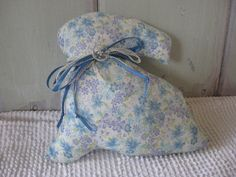 Print Stuffed Bunny Accent Pillow Blue and by chickenhearts, $6.00