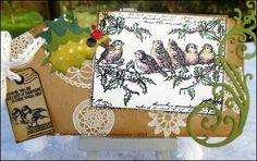 A Christmas tag using CI-424 and CI-426, also CI-427 Les folies de Coco...