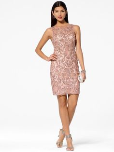a45234aa Pink Sequin Lace Dress from Caché would be a great dress if you are going to