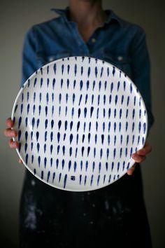 For Nikki Large ceramic plate Cheese ceramic plate